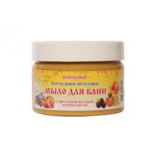 Фруктовое мыло для бани с цветочной пыльцой и прополисом
